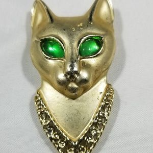 Vintage custom jewelry brooches pin cat